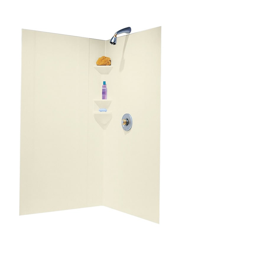 Shop Swanstone Bone Shower Wall Surround Corner Wall Panel Common 38 In Ac