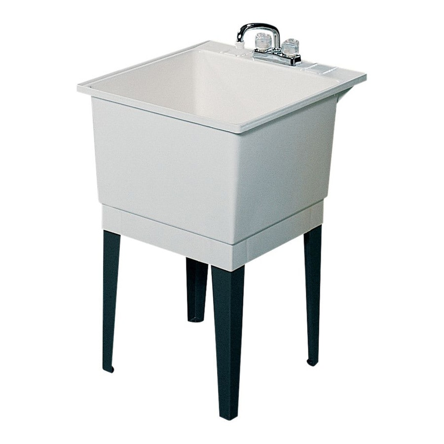 Shop Swanstone White Polypropylene Laundry Sink At Lowes