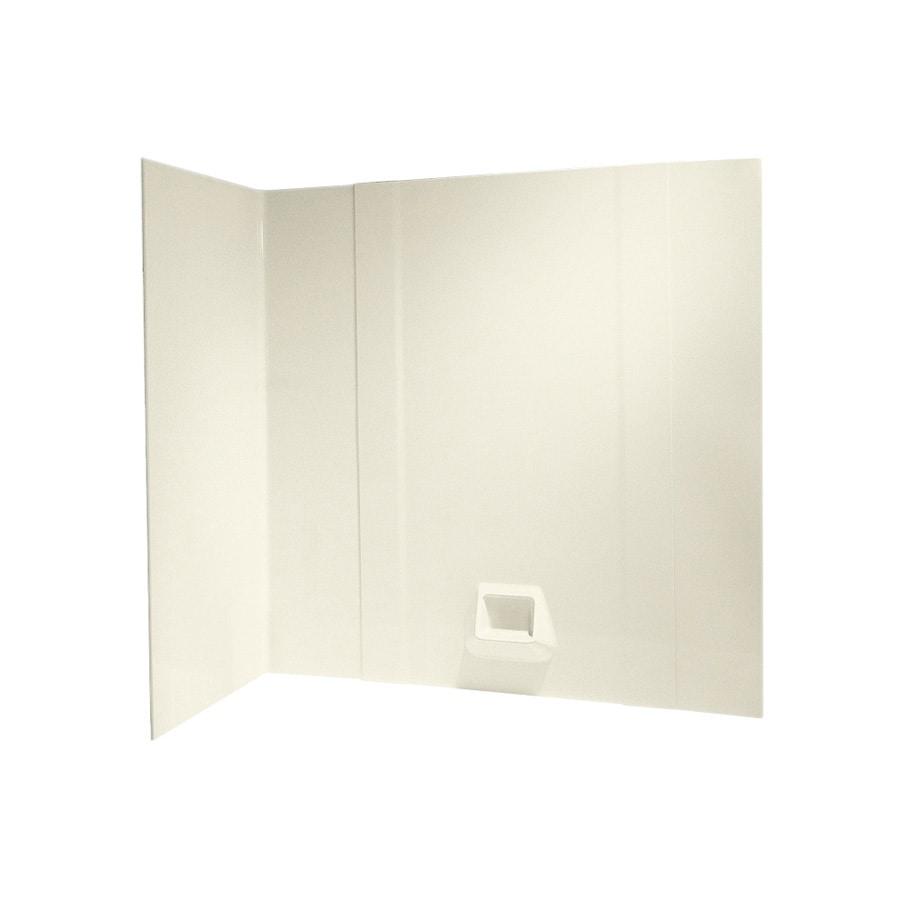Swanstone Bone Fiberglass and Plastic Composite Bathtub Wall Surround (Common: 30-in x 60-in; Actual: 58-in x 30-in x 60-in)
