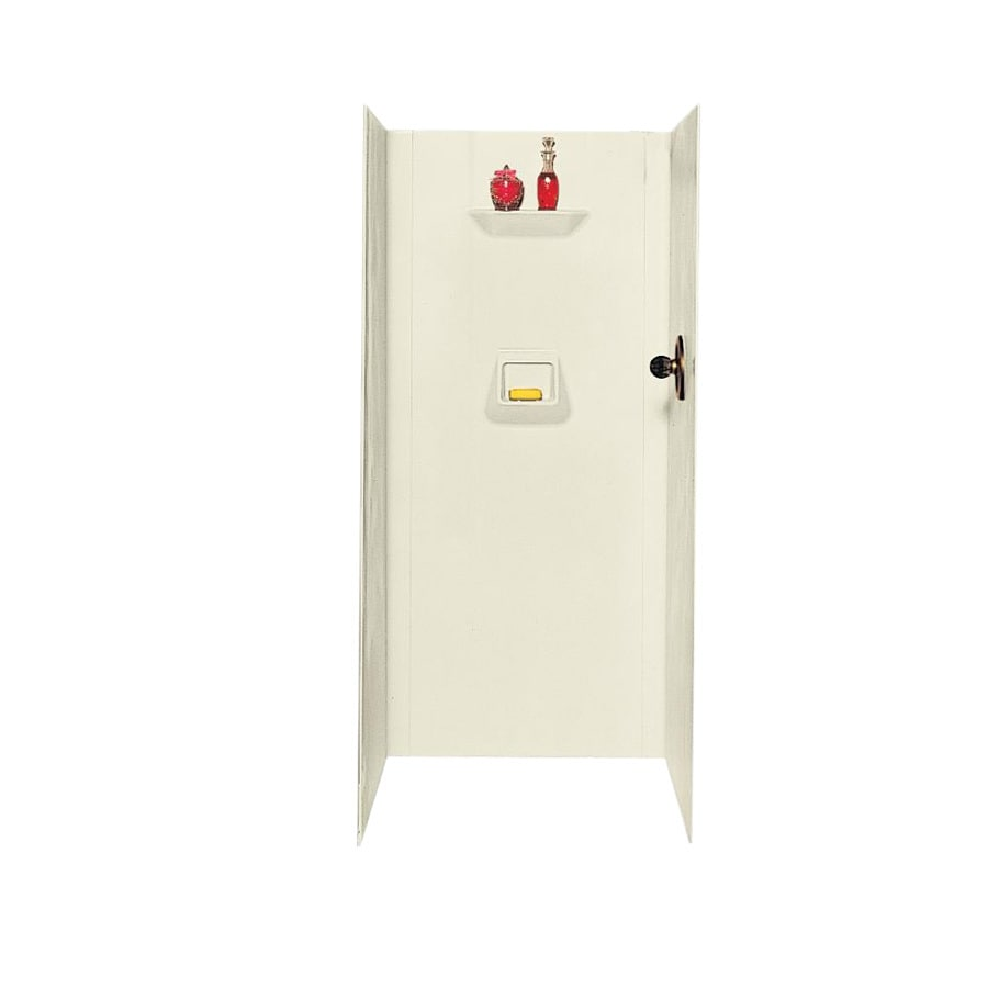Swanstone Bone Shower Wall Surround Side And Back Wall Kit (Common: 32-in x 32-in; Actual: 70-in x 32-in x 32-in)