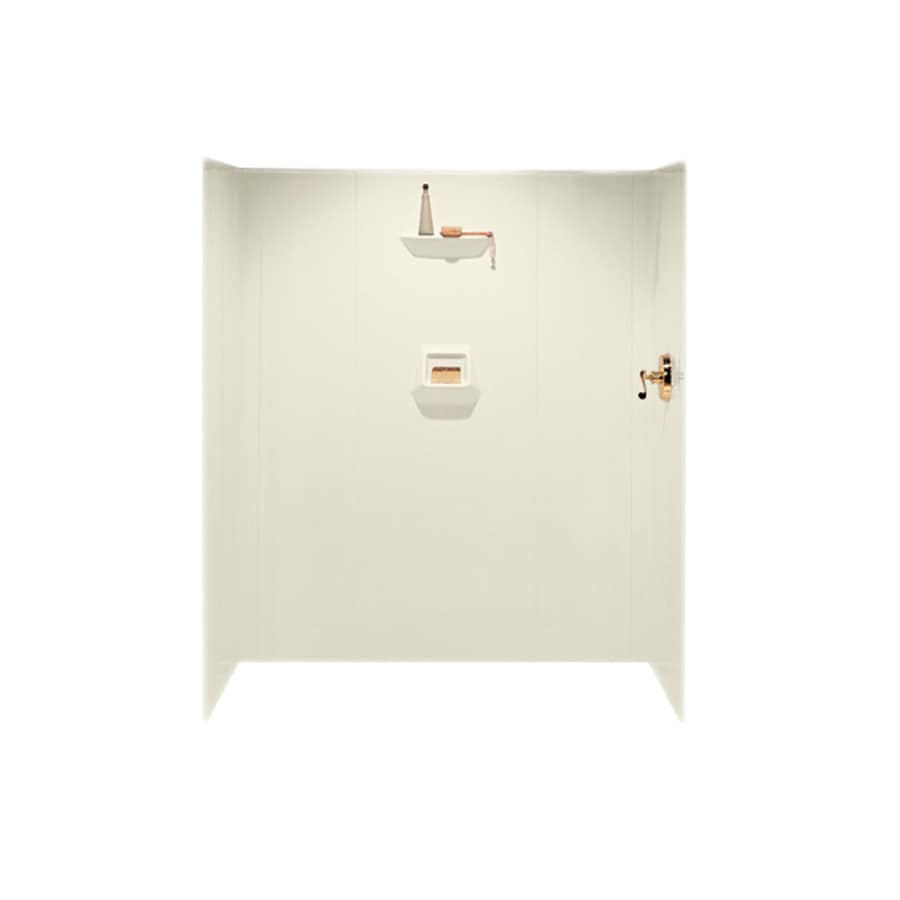 Swanstone Bone Shower Wall Surround Side And Back Wall Kit (Common: 36-in x 36-in; Actual: 70-in x 36-in x 36-in)