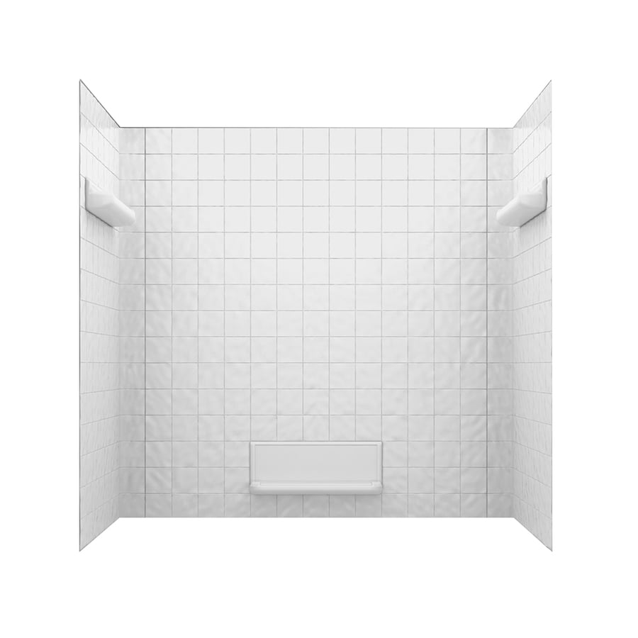 Swanstone Fiberglass and Plastic Composite Bathtub Wall Surround (Common: 32-in x 60-in; Actual: 59.625-in x 32-in x 60-in)