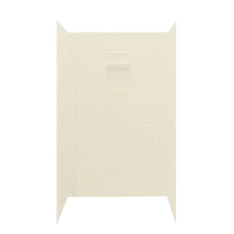 Swanstone Bone Shower Wall Surround Side And Back Wall Kit (Common: 36-in x 48-in; Actual: 72-in x 36-in x 48-in)