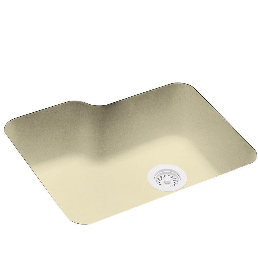 Swanstone 21.25-in x 25-in Bone Single-Basin Composite Undermount Residential Kitchen Sink
