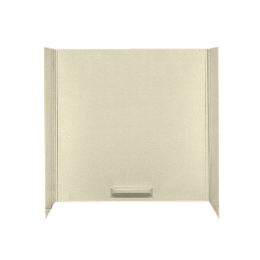 Swanstone Bone Fiberglass and Plastic Composite Bathtub Wall Surround (Common: 48-in x 72-in; Actual: 58-in x 48-in x 72-in)