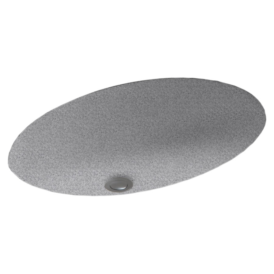 Undermount Bathroom Sink With Granite shop swanstone gray granite composite undermount oval bathroom