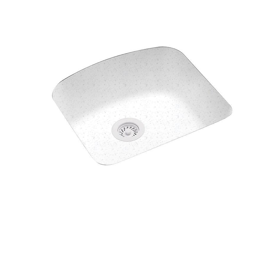 Swanstone 20.2500-in x 21-in Arctic Granite Single-Basin Composite Undermount Residential Kitchen Sink