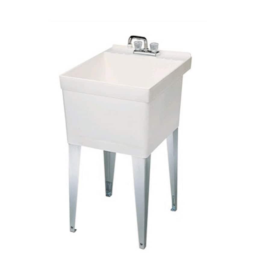 Merveilleux Swanstone White Polypropylene Laundry Sink