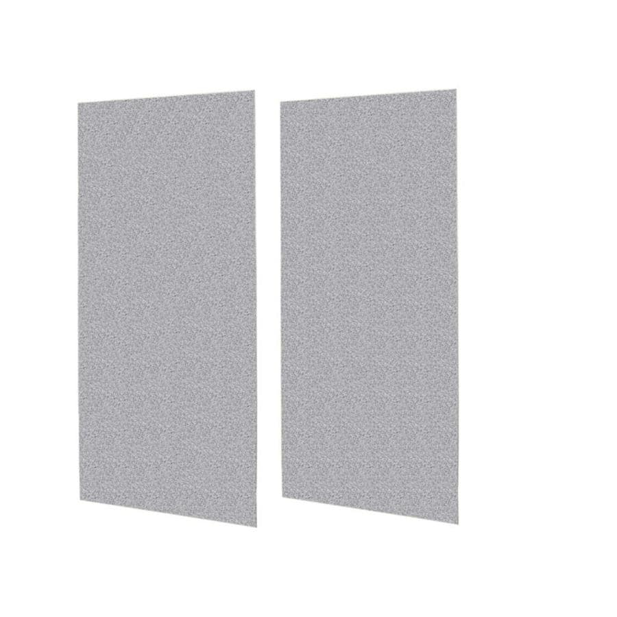 Swanstone Gray Granite Shower Wall Surround Side Wall Panel Kit (Common: 0.25-in x 48-in; Actual: 96-in x 0.25-in x 48-in)