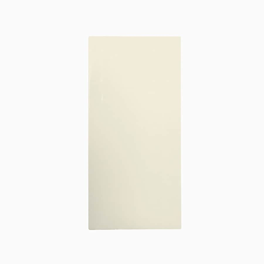 Swanstone Bone Fiberglass and Plastic Composite Bathtub Wall Surround (Common: 28-in x 28-in; Actual: 58-in x 28-in x 28-in)