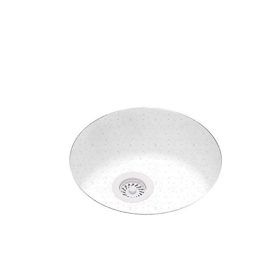 Swanstone 18.5-in x 18.5-in Arctic Granite Single-Basin Composite Undermount Residential Kitchen Sink