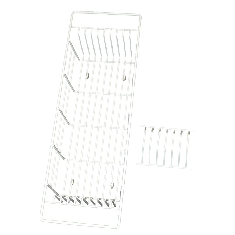 Swanstone 7-in W x 21.75-in L x 4.5-in H Metal Dish Rack