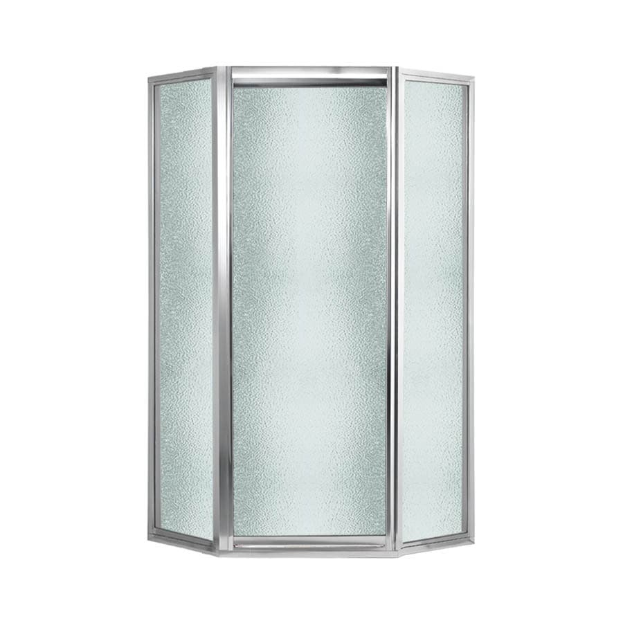 Swanstone Framed Polished Chrome Shower Door