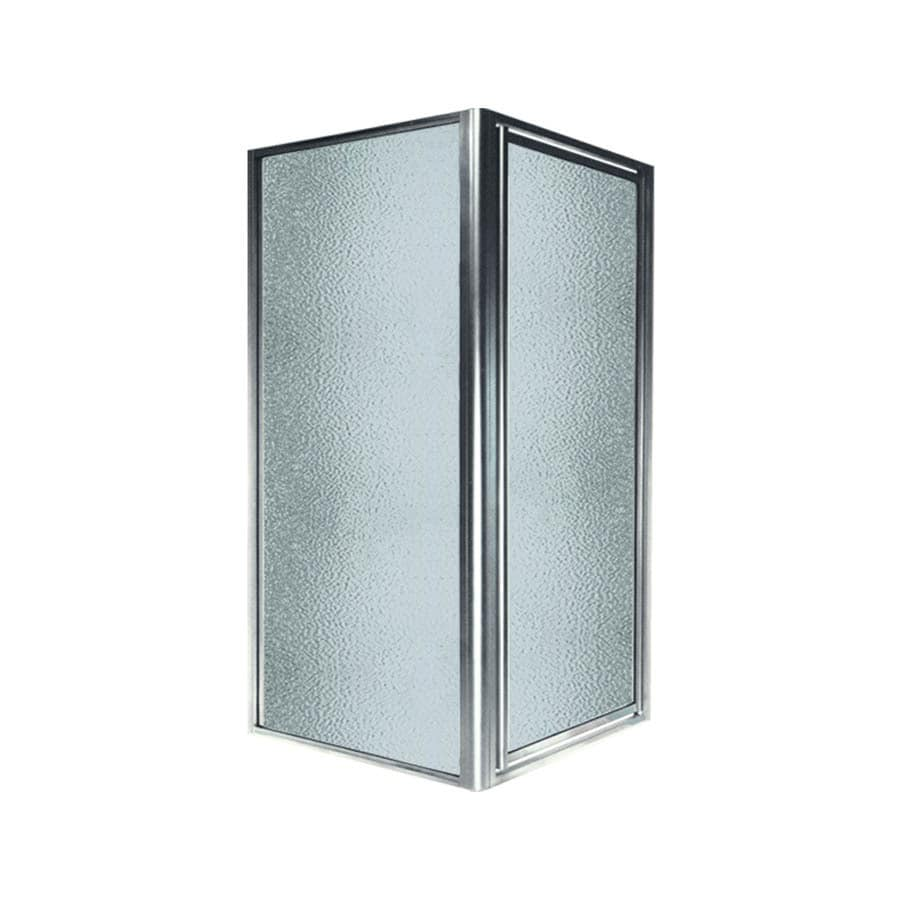 Swanstone 36-in to 36-in W Framed Polished Chrome Hinged Shower Door