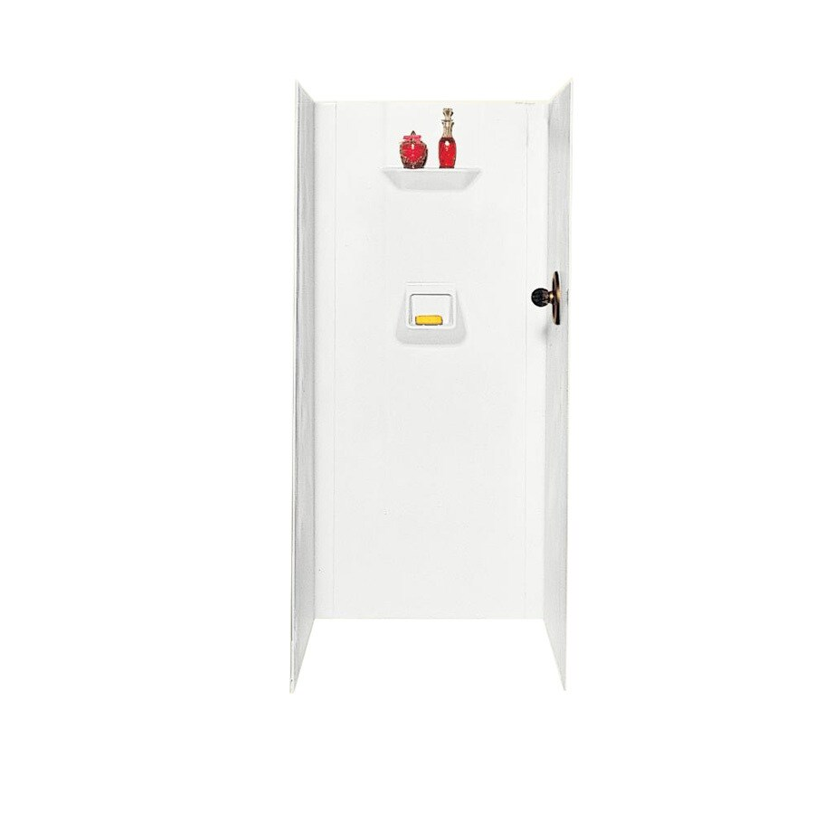 Swanstone White Shower Wall Surround Side and Back Panels (Common: 32-in; Actual: 70-in x 32-in)