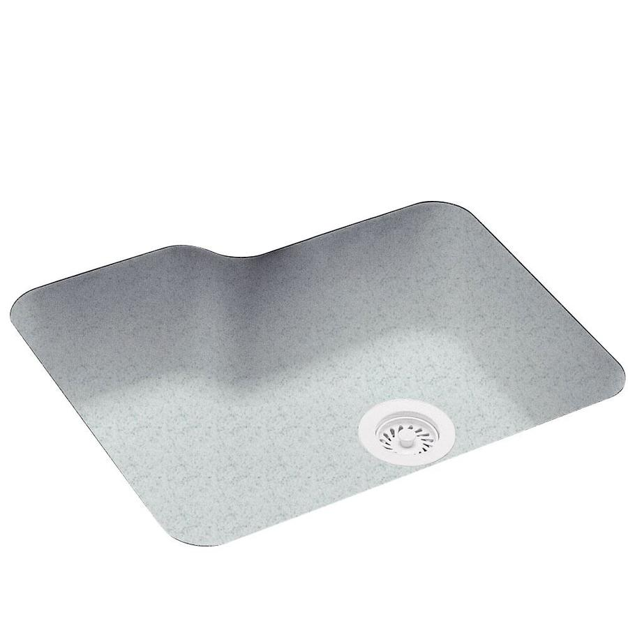Swanstone 21.2500-in x 25.0000-in Tahiti Gray Single-Basin Composite Undermount Residential Kitchen Sink