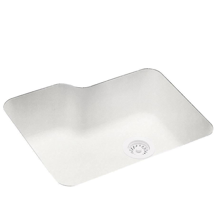 Swanstone 21.2500-in x 25.0000-in Tahiti Ivory Single-Basin Composite Undermount Residential Kitchen Sink