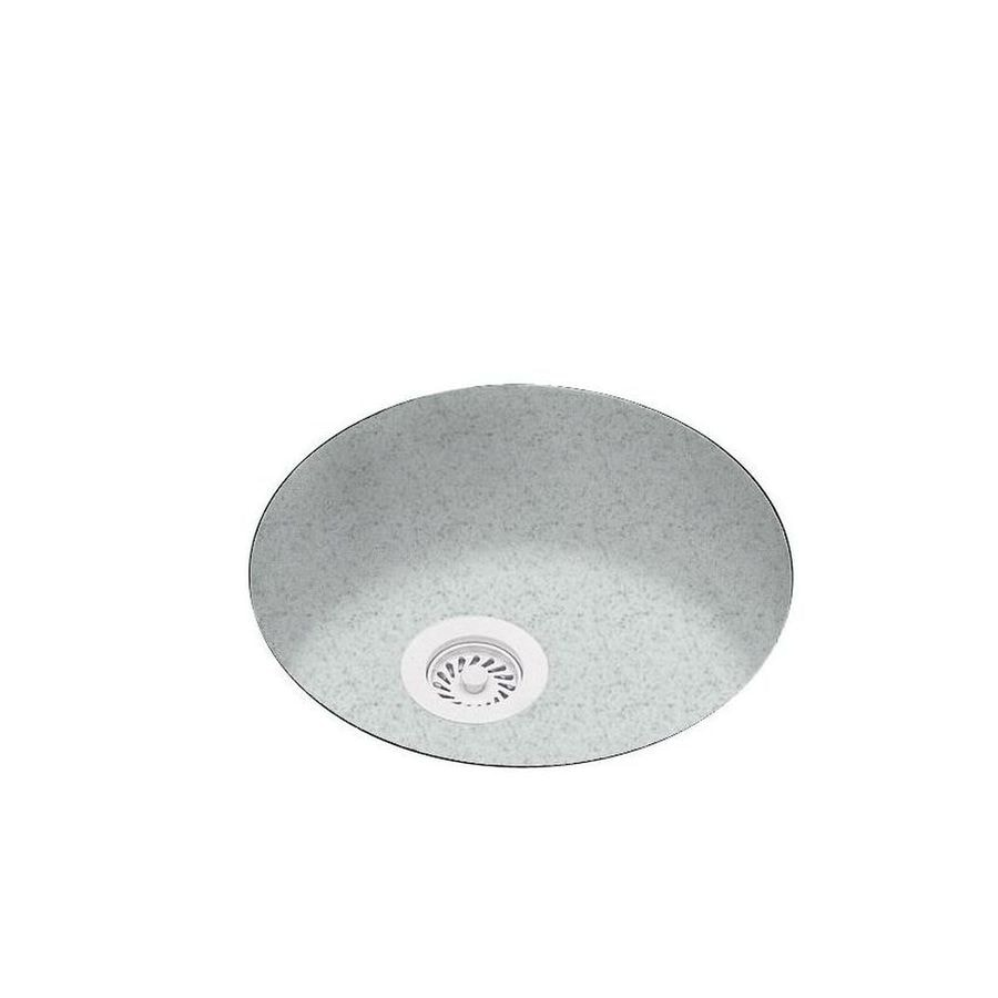 Swanstone 18.5-in x 18.5-in Tahiti Gray Single-Basin-Basin Composite Undermount (Customizable)-Hole Residential Kitchen Sink