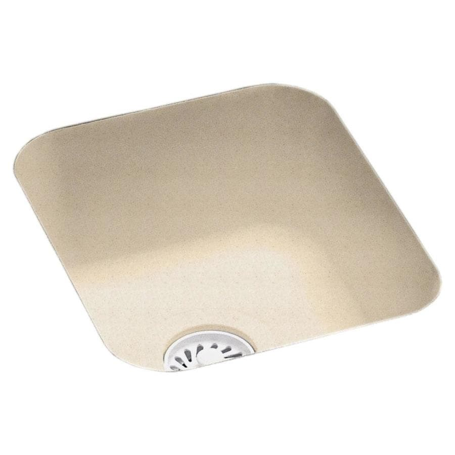 Swanstone Tahiti Sand Single-Basin Composite Undermount Residential Bar Sink