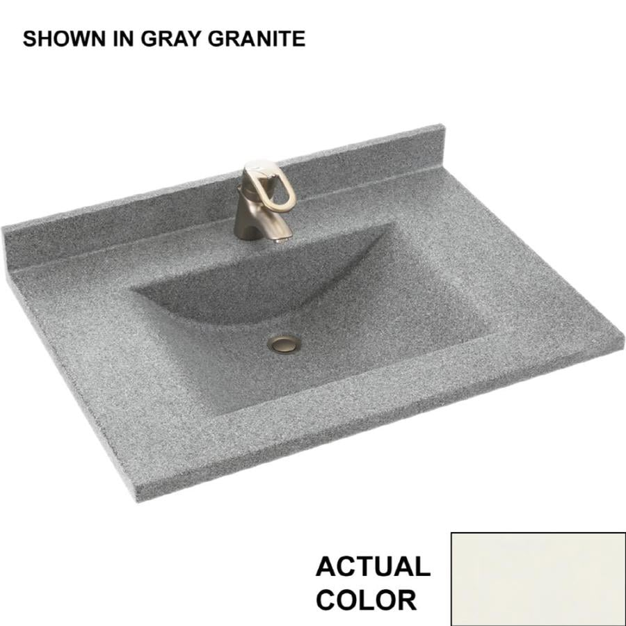 Swan Contour Bisque Solid Surface Integral Single Sink