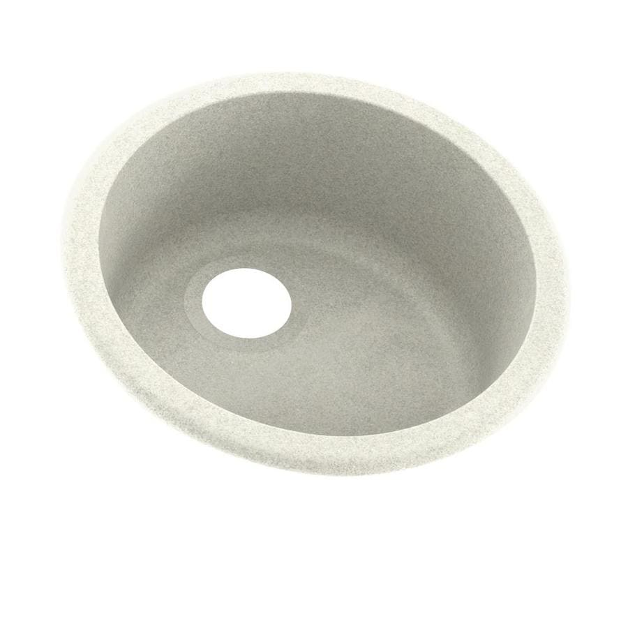 Swanstone 18.5000-in x 18.5000-in Bisque Single-Basin Composite Drop-in or Undermount Residential Kitchen Sink