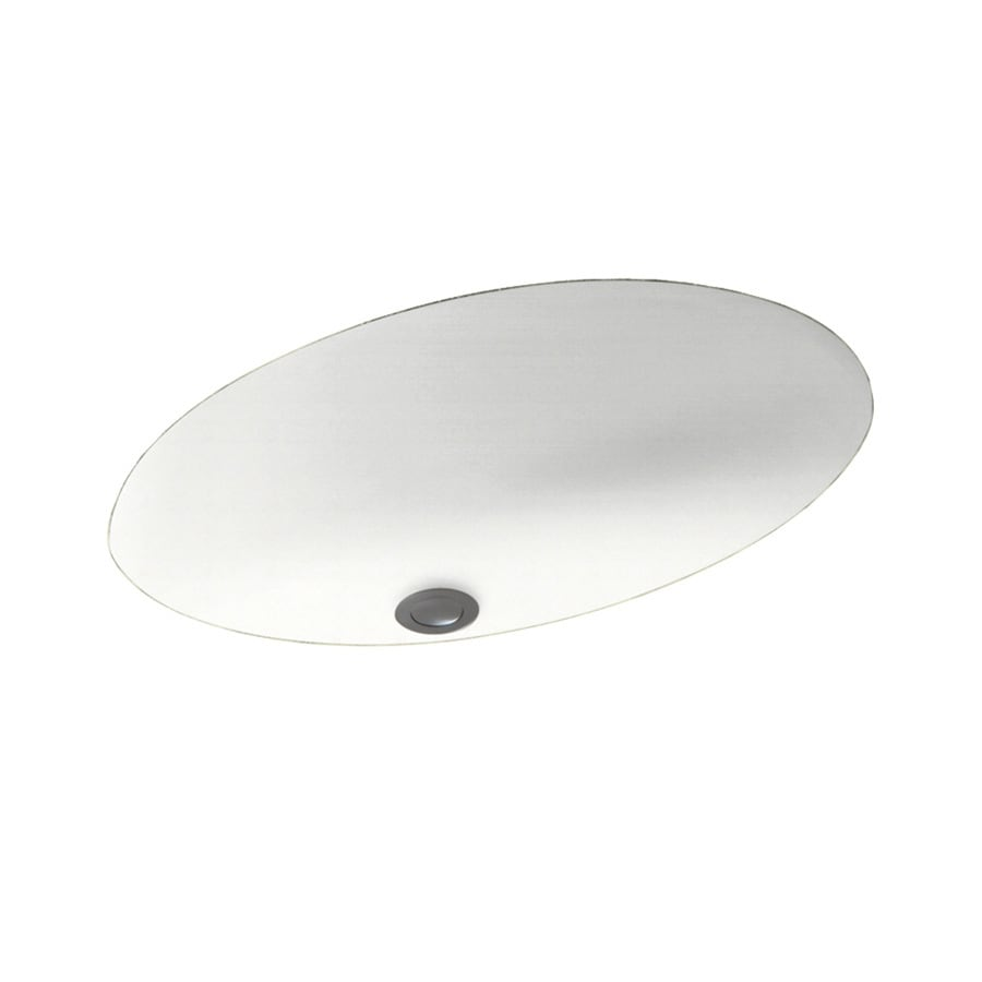 Shop swanstone tahiti white solid surface undermount oval for Swanstone undermount sinks
