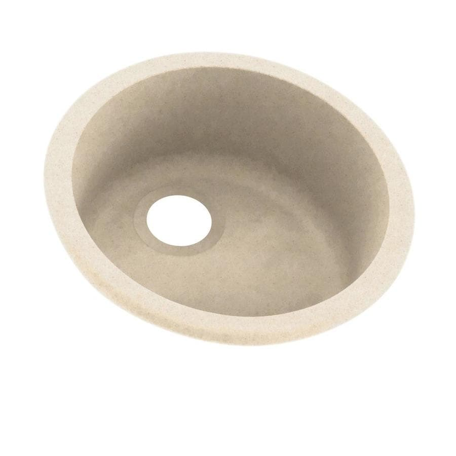 Swanstone 18.5000-in x 18.5000-in Tahiti Sand Single-Basin Composite Drop-in or Undermount Residential Kitchen Sink