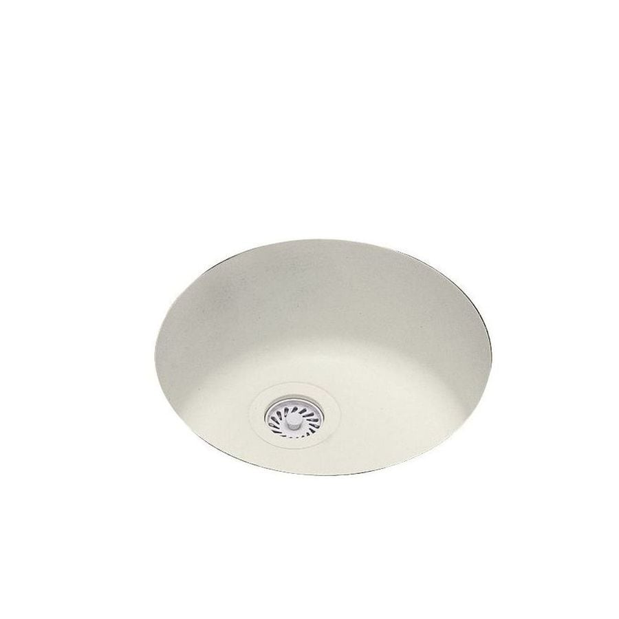 Swanstone 18.5-in x 18.5-in Bisque Single-Basin Composite Undermount Residential Kitchen Sink