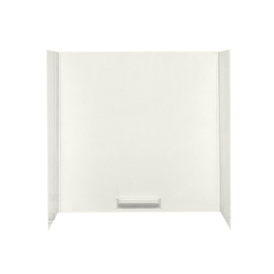 Swanstone Bisque Fiberglass/Plastic Composite Bathtub Wall Surround (Common: 48-in x 72-in; Actual: 58-in x 48-in x 72-in)