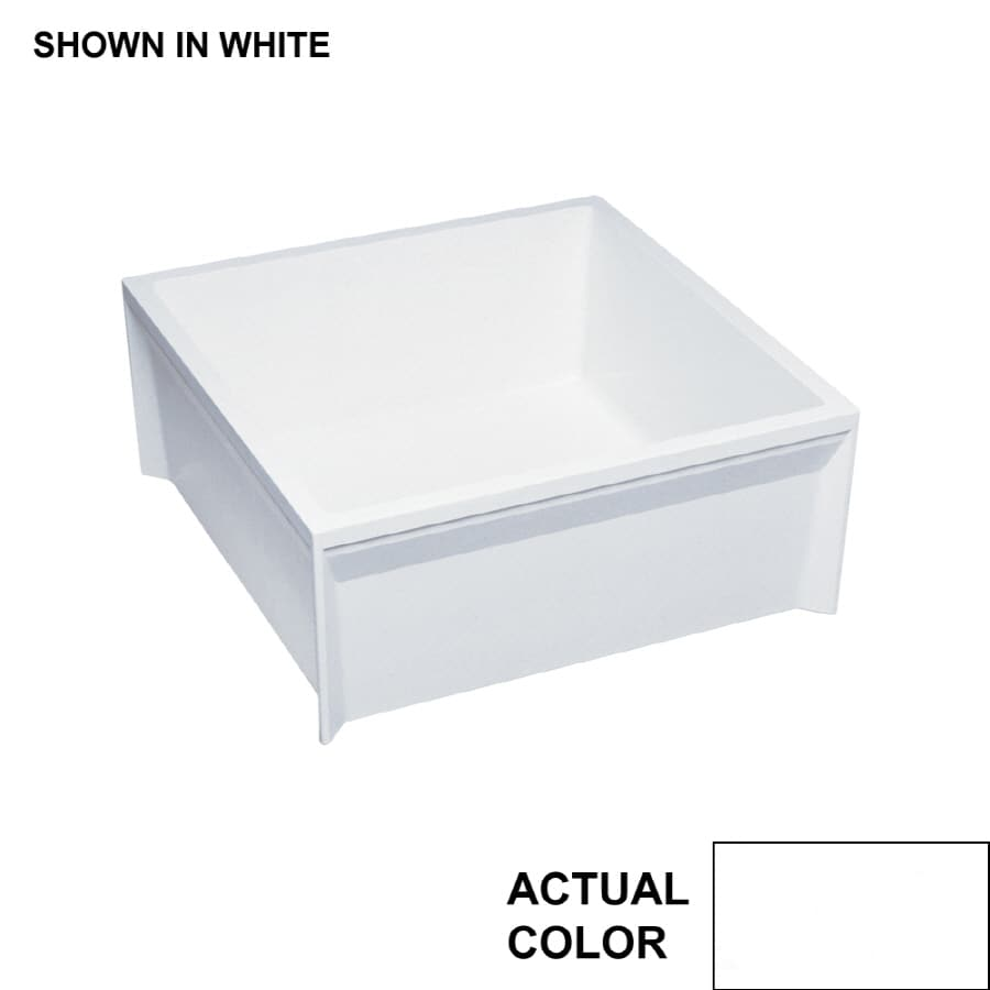 "Kitchen Sink Sizes Lowes: Swanstone 24"" X 24"" White Mop Service Basin At Lowes.com"