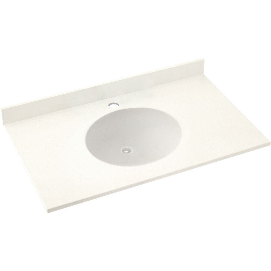 Swanstone Ellipse Solid Surface Bathroom Vanity Top (Common: 31-in x 22-in; Actual: 31-in x 22-in)