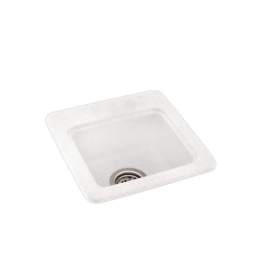 Swanstone Tahiti Ivory Single-Basin 1-Hole Composite Drop-in or Undermount Residential Bar Sink