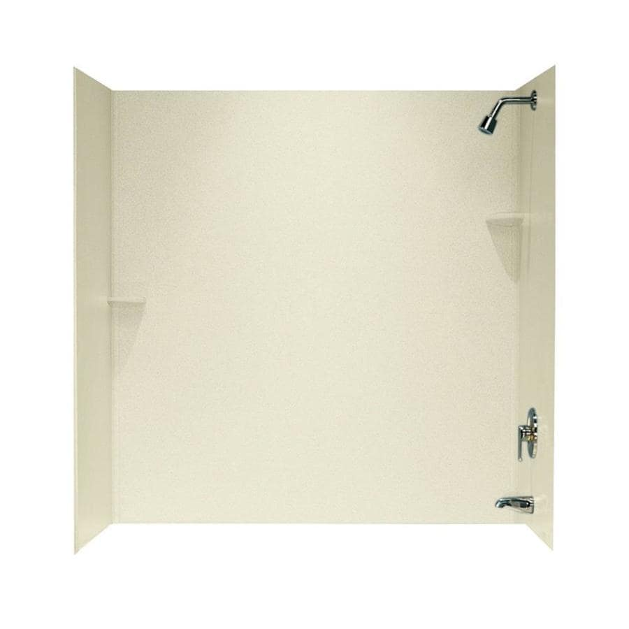 Swanstone Bone Solid Surface Bathtub Wall Surround (Common: 30-in x 60-in; Actual: 60-in x 30-in x 60-in)