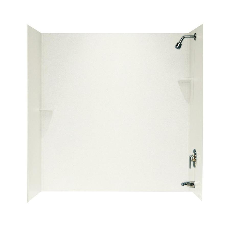 Swanstone Bisque Solid Surface Bathtub Wall Surround (Common: 30-in x 60-in; Actual: 60-in x 30-in x 60-in)
