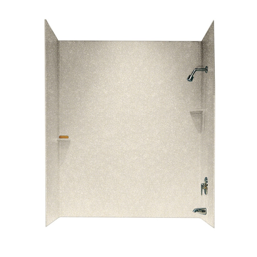 Solid Surface Bathtub Accent Wall: Shop Swanstone Solid Surface Bathtub Wall Surround (Common