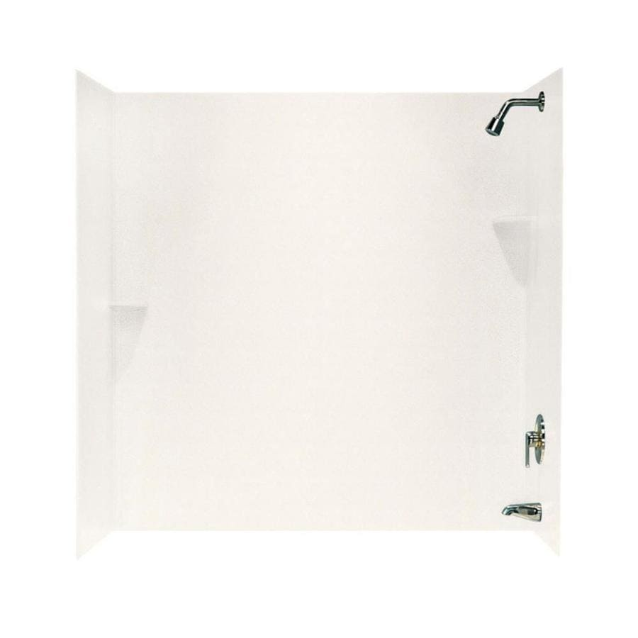 Swanstone Tahiti Ivory Solid Surface Bathtub Wall Surround (Common: 30-in x 60-in; Actual: 60-in x 30-in x 60-in)