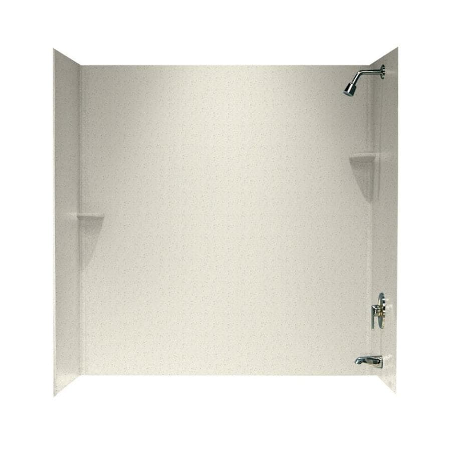 Swanstone Tahiti Matrix Solid Surface Bathtub Wall Surround (Common: 30-in x 60-in; Actual: 60-in x 30-in x 60-in)