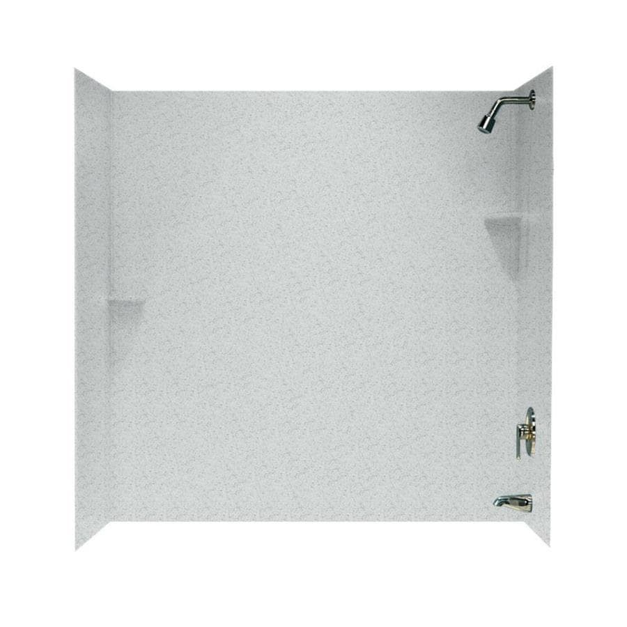 Swanstone Tahiti Gray Solid Surface Bathtub Wall Surround (Common: 30-in x 60-in; Actual: 60-in x 30-in x 60-in)