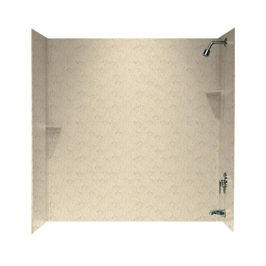 Swanstone Tahiti Desert Solid Surface Bathtub Wall Surround (Common: 30-in x 60-in; Actual: 60-in x 30-in x 60-in)