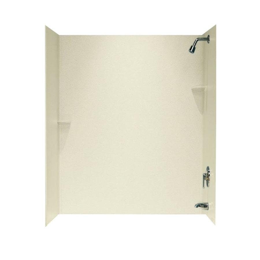 Swanstone Bone Solid Surface Bathtub Wall Surround (Common: 30-in x 60-in; Actual: 72-in x 30-in x 60-in)