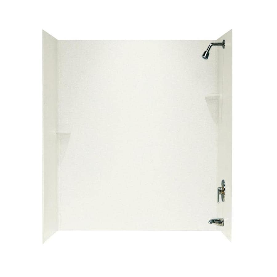 Swanstone Bisque Solid Surface Bathtub Wall Surround (Common: 30-in x 60-in; Actual: 72-in x 30-in x 60-in)