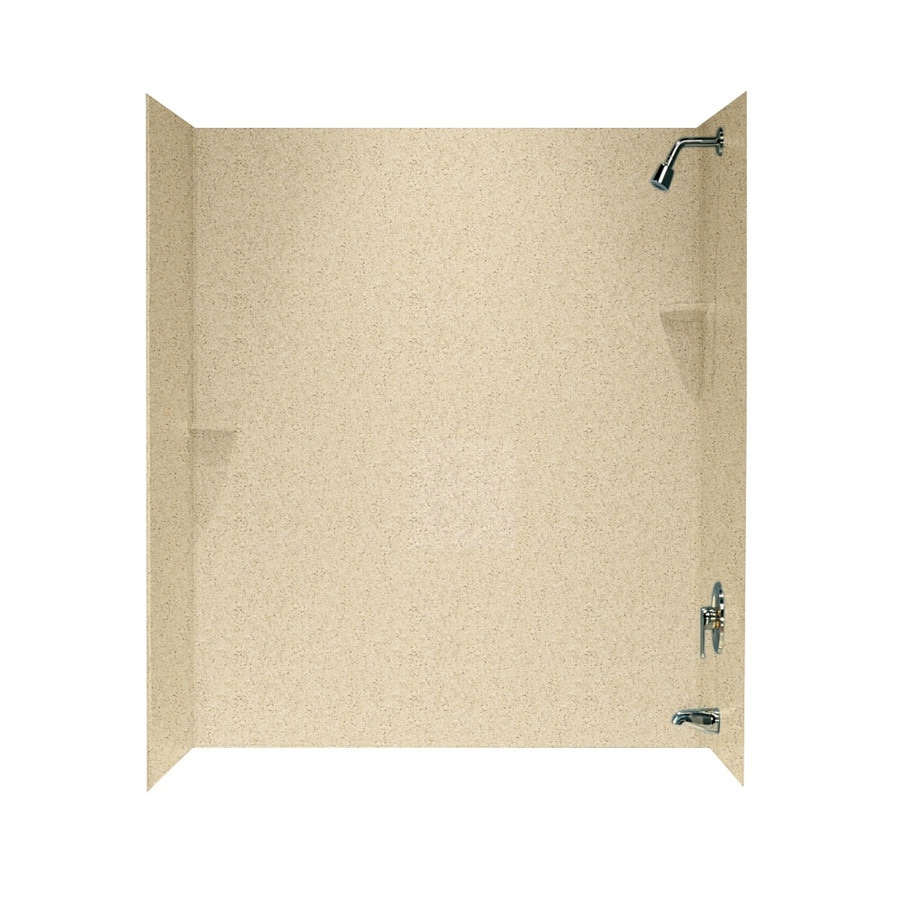 Swanstone Bermuda Sand Solid Surface Bathtub Wall Surround (Common: 30-in x 60-in; Actual: 72-in x 30-in x 60-in)