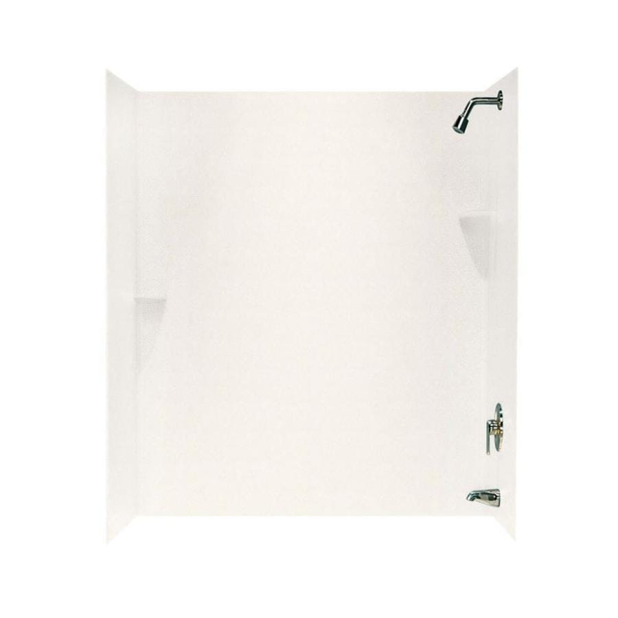Swanstone Tahiti Ivory Solid Surface Bathtub Wall Surround (Common: 30-in x 60-in; Actual: 72-in x 30-in x 60-in)