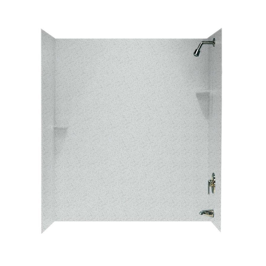 Swanstone Tahiti Gray Solid Surface Bathtub Wall Surround (Common: 30-in x 60-in; Actual: 72-in x 30-in x 60-in)