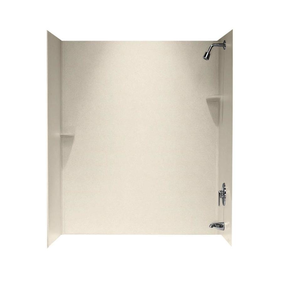 Swanstone Tahiti Sand Solid Surface Bathtub Wall Surround (Common: 30-in x 60-in; Actual: 72-in x 30-in x 60-in)