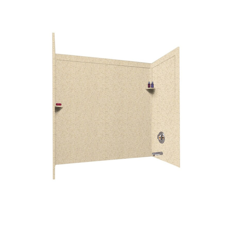 Swanstone Bermuda Sand Solid Surface Bathtub Wall Surround (Common: 33-in x 60-in; Actual: 60-in x 33.5-in x 60-in)