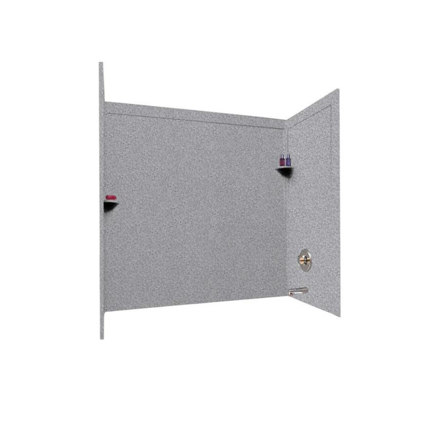 Swanstone Gray Granite Solid Surface Bathtub Wall Surround (Common: 33-in x 60-in; Actual: 60-in x 33.5-in x 60-in)
