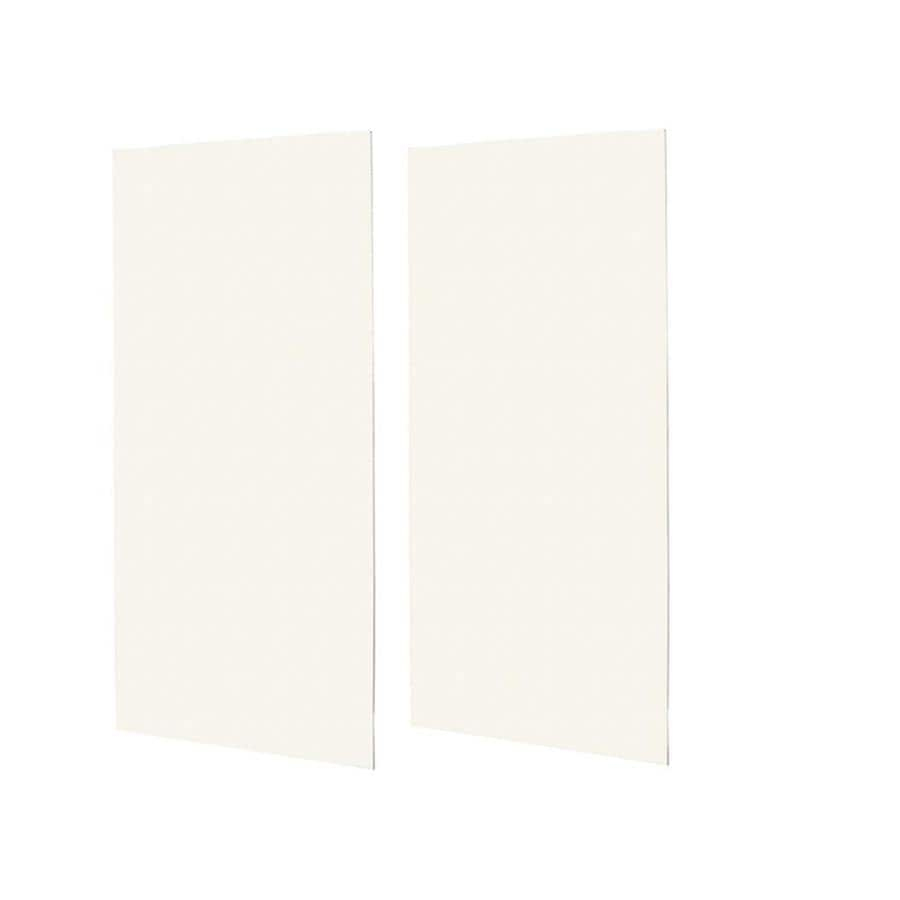 Swanstone Tahiti Ivory Shower Wall Surround Side Wall Panel Kit (Common: 0.25-in x 48-in; Actual: 96-in x 0.25-in x 48-in)