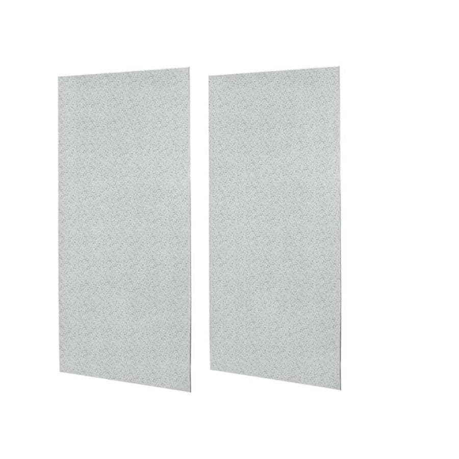 Swanstone Tahiti Gray Shower Wall Surround Side Wall Panel Kit (Common: 0.25-in x 48-in; Actual: 96-in x 0.25-in x 48-in)