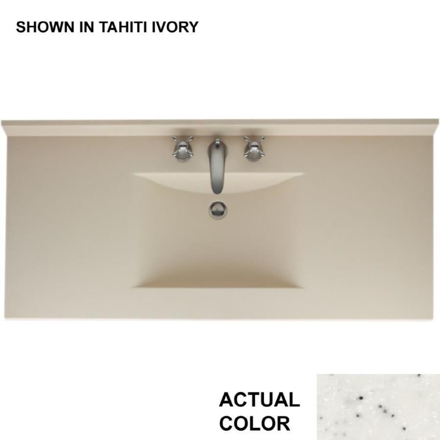 Swanstone Contour Tahiti Matrix Solid Surface Integral Single Sink Bathroom Vanity Top (Common: 49-in x 22-in; Actual: 49-in x 22-in)